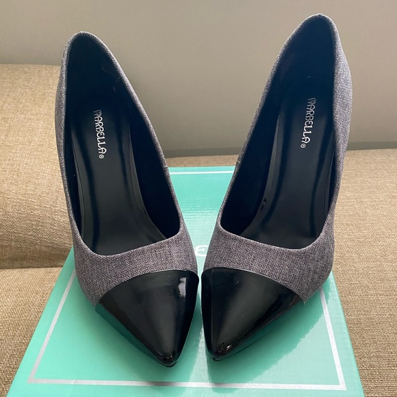 stylish black pumps